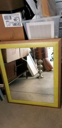 rectangular brown and beige wooden framed mirror Mississauga, L4X 1L4