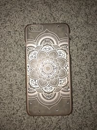 brown and white floral iPhone case Charlotte, 48813