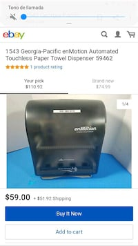 Automátic Touchless Towel Dispenser Springfield, 22150