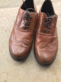 pair of brown leather dress shoes Harvey, 70058