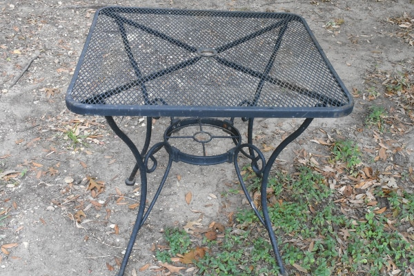 Used Black Metal Picnic Table For Sale In Frisco Letgo - Black metal picnic table