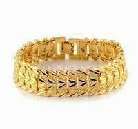 Gold plated woman and men bracelet18k  Greater London, E15 3ED