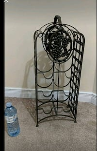 Hand crafted free standing metal wine rack  Brampton, L7A 2T1