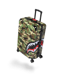 "SPRAYGROUND BRAND NEW CAMO SHARK 29"" LUGGAGE Darien"