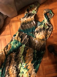 green and brown floral dress Edmonton, T5K 0K6