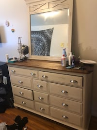 Brown wooden dresser with mirror College Park, 20740