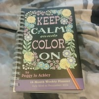 Keep calm and color on planner and colouring book Ottawa, K2H 8A6