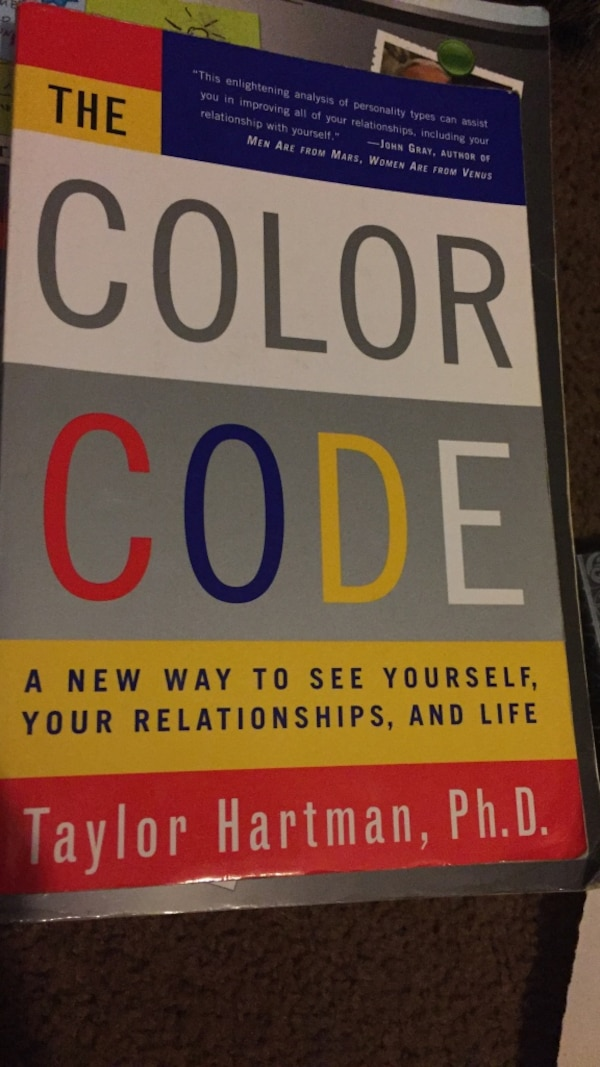 Used The Color Code By Taylor Hartman Ph D Book For Sale In