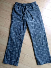 Drawstring Flared Plaid Pants Surrey, V4N 0N3