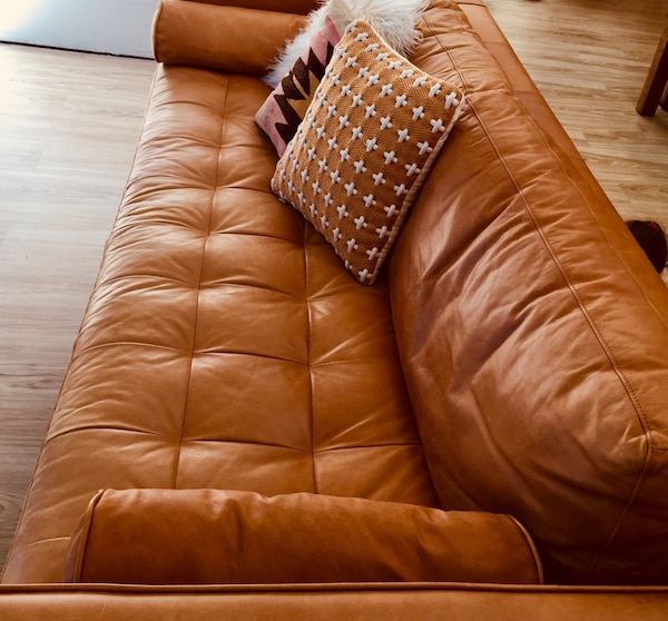 Pleasing Tan Leather Sofa Pdpeps Interior Chair Design Pdpepsorg