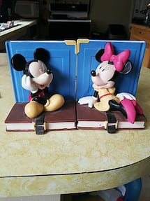 Disney mickey and minnie bookends