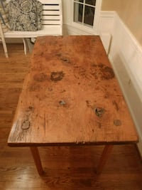 Antique slab harvest table Centreville