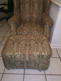 brown and green floral fabric sofa chair Rockville, 20853