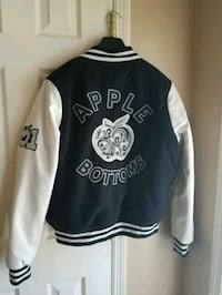 Apple bottom varsity jacket Waldorf