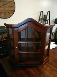 brown wooden framed glass display cabinet Richland City, 47634