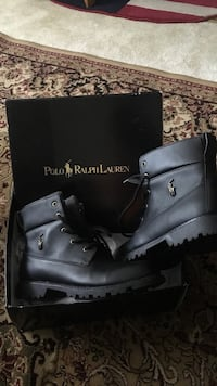 Pair of black Ralph Lauren Polo work boots with box size 7 Alexandria, 22310