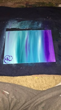 Blue and purple abstract expressionism painting Greensboro, 27403