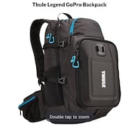 GoPro backpack, Thule Legend Hampton, 23669