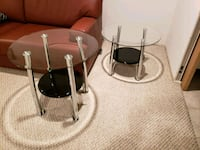 Glass chrome end tables Toronto