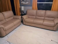 brown leather 3-piece sofa set Clearwater, 33756
