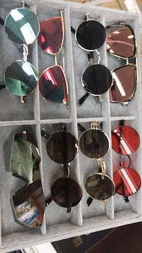 six assorted color sunglasses with boxes Corpus Christi, 78408