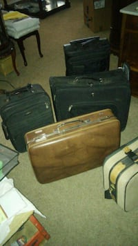 two brown and black luggage bags Las Vegas, 89110