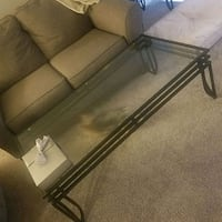 Glass Coffee Table Silver Spring