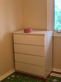 white wooden 5-drawer tallboy dresser Ottawa, K1V