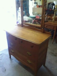 brown wooden dresser with mirror Taneytown, 21787