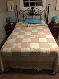 Double sized headboard, frame, box spring and mattress  Wainfleet, L0S 1V0