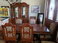 Formal Dining Room Table, Chairs, Hutch
