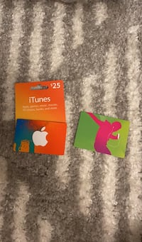 2 iTunes gift cards