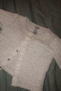 Carters off white flannel size 9m