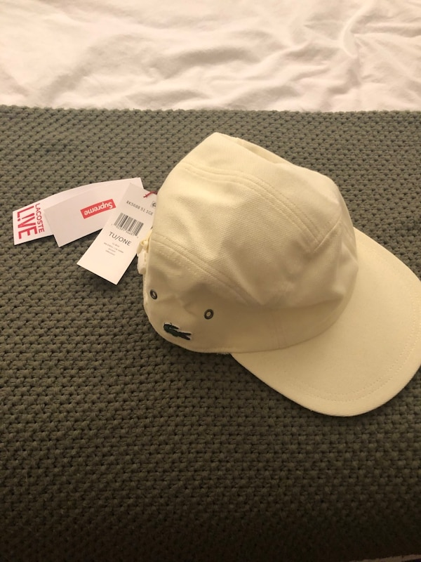 Used Supreme x Lacoste pale yellow cap for sale in New York - letgo 3c90381a9238