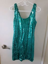 green and white floral sleeveless dress Calgary, T3J 3C8