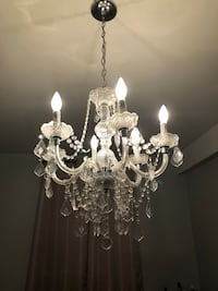 white and clear glass chandelier Port Chester, 10573