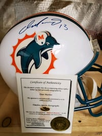 Full size replica helmet autographed by Dan Marino with COA. Gainesville, 20155