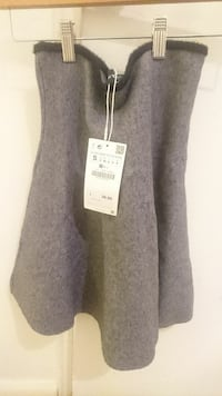 Grey Skirt - The Knitwear Collection New York