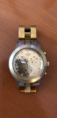 round silver-colored chronograph watch with link bracelet Fullerton, 92833