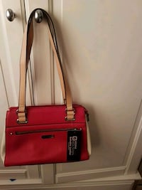 red and black leather tote bag Brampton, L6T 3X3