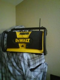 Black and yel Dewalt battery charger amfm battery Tacoma, 98444