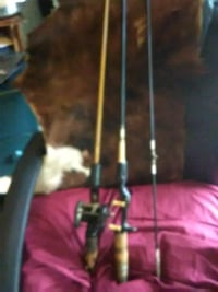 black and gray fishing rod