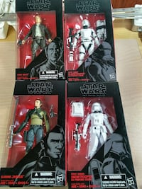 several Star Wars characters action figures