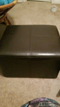 Small leather ottoman 1210 mi