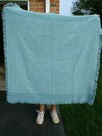white and lite blue blanket/throw for cold nights Sparrows Point, 21219
