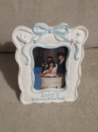 New Baby's Christening Picture Frame Burlington