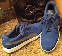 Puma blue & white low top sneakers ( brand new )- pls slide to see other photo Calgary, T2J 1V5