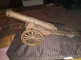 CAST IRON CANNON NON FIRING 18 IN LONG FOR DISPLAY ONLY COOL ITEM
