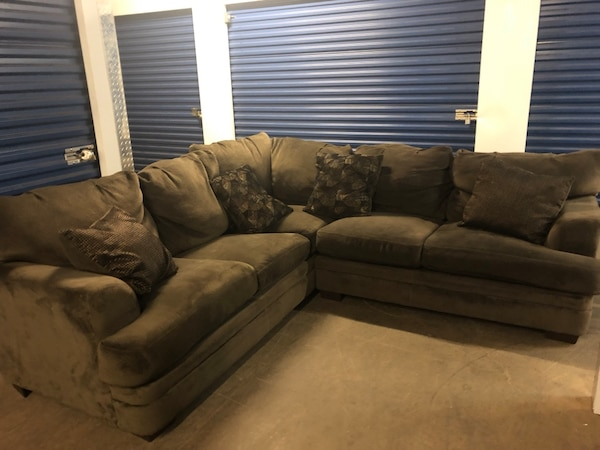 Chocolate Brown Microsuede Sectional