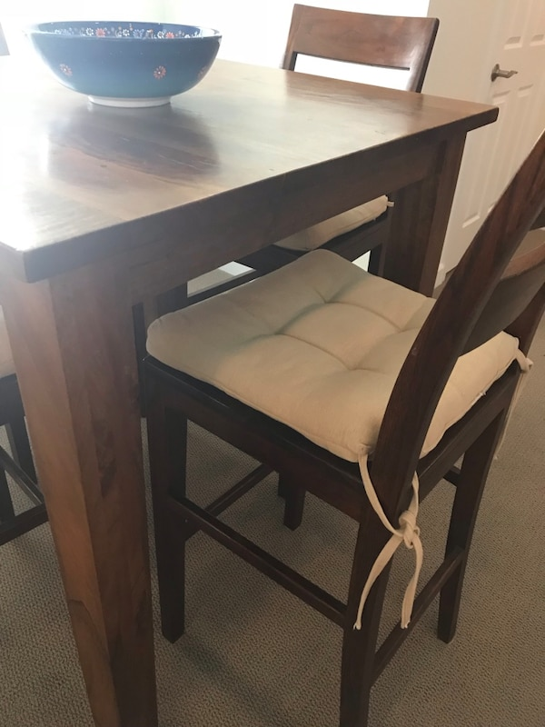 Crate & barrel breakfast table with console